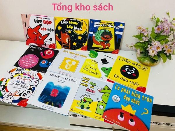 Combo 11 cuốn Ehon Nhật Bản: Hình Khối, Âm Thanh, Màu Sắc