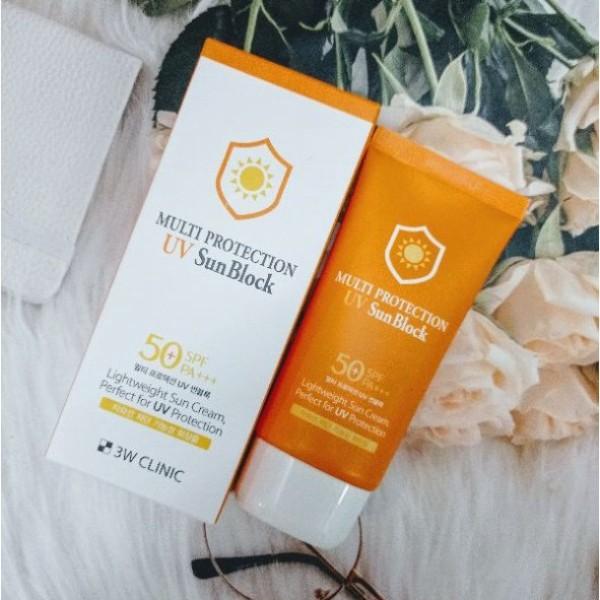 Kem Chống Nắng 3W Clinic Multi Protection UV Sun Block SPF 50+ PA+++ 70ml
