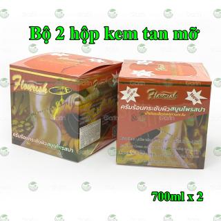 Bộ 2 hộp kem tan mỡ bụng gừng ớt Flourish Thái Lan (700ml x 2) đánh tan mỡ hiệu quả, làm săn chắc vùng bụng, hông, eo, mông và đùi, cho dáng vóc luôn gọn gàng hơn thumbnail