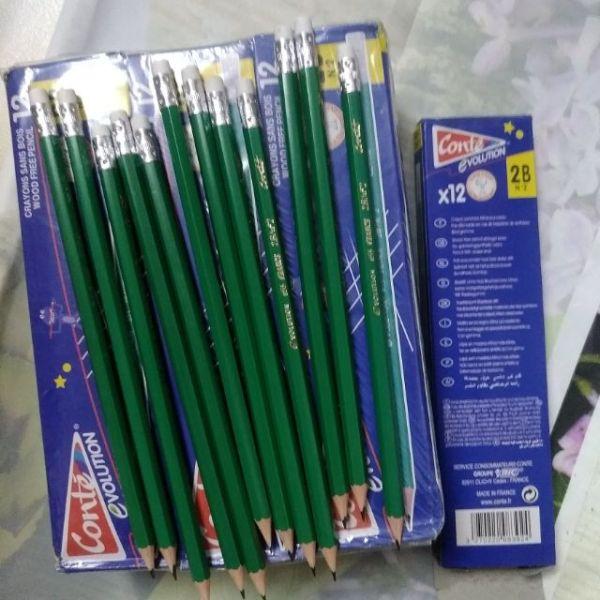 144 cây chì 2B xanh, viết chì 2B dẻo