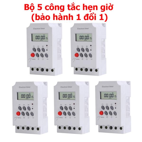 Bộ 5 công tắc hẹn giờ KG316 T-II /25A/220V, timer hẹn giờ điện tử, bộ hẹn giờ tự động, công tắc điện hẹn giờ