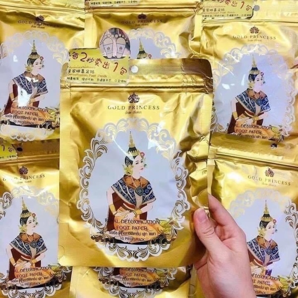 Miếng dán thải độc bàn chân Gold Princess Thái Lan