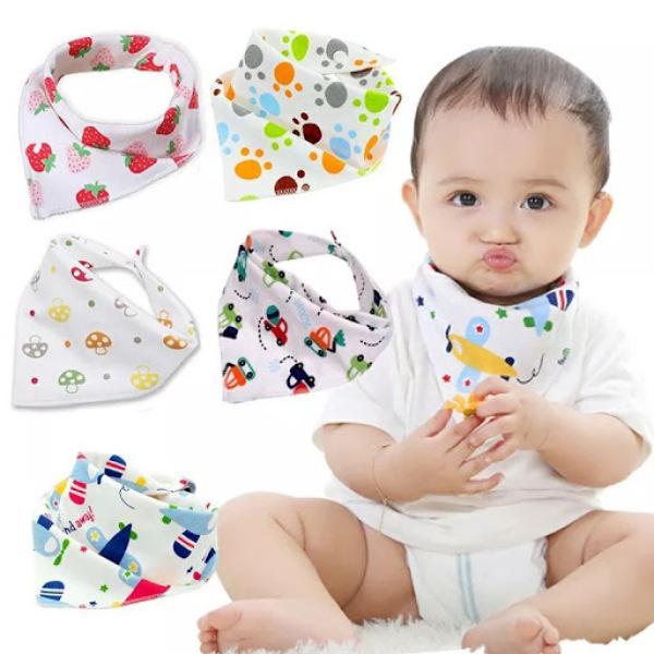 Giá bán Combo 10 khăn yếm tam giác cho bé -Màu ngẫu nhiên