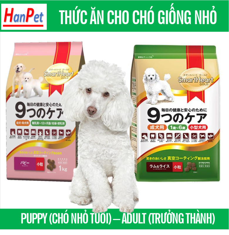 HCM-Thức ăn  dạng hạt  Smartheart Gold - loại cho chó cỡ nhỏ (hanpet 216)- Thích hợp cho dòng chó mini như  poole và phốc