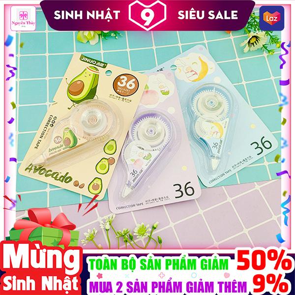 Mua Bút xóa kéo hình trái cây hãng Jinuo dễ thương chất lượng cao ✓Giá rẻ ✓An toàn ✓Dễ sử dụng ✓ Nguyễn Thùy Store