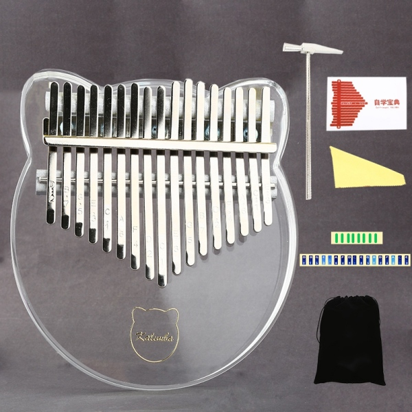 17 Key Kalimba Acrylic Thumb Piano 17 Keys Mbira Transparent Keyboard Instrument Malaysia