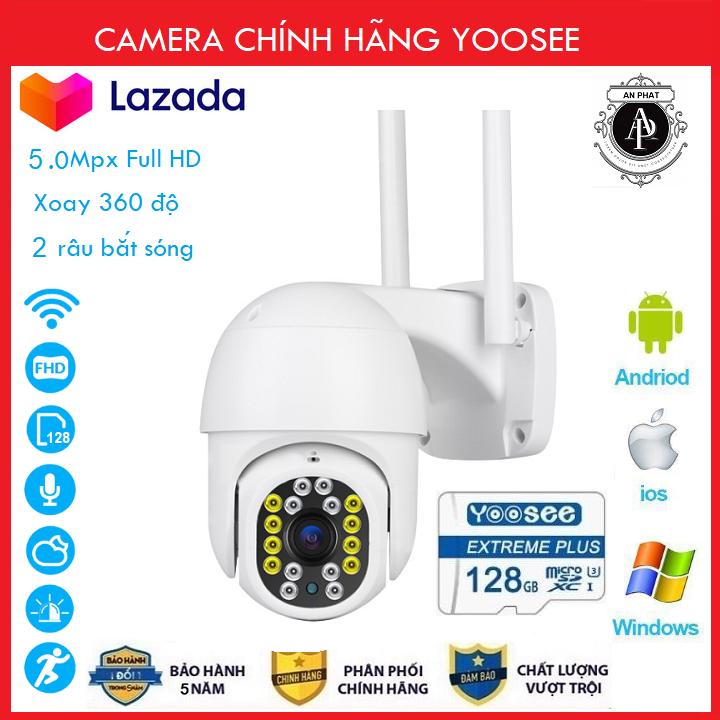 ( Combo Camera Thẻ 128GB Yoosee Bảo Hành 60 Tháng ) Camera wifi Ptz Xoay 360 Độ chuẩn 3.0 dùng ngoài trời - trong nhà mpx full hd 1080p - hỗ trợ 4 đèn hồng ngoại và 4 đèn led + tặng thẻ xịn 128 yoosee cho mã 520k và không thẻ với mã 420k