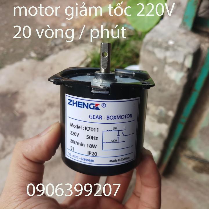 motor giảm tốc 220v - motor giảm tốc 20rpm