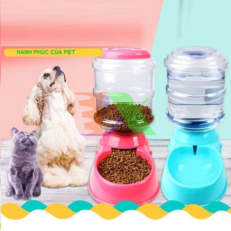 Bộ 2 Khay ăn + uống cho Pet, Chó, Mèo MFD-01, Máng ăn, bát ăn uống cho pet, Sản phẩm chất lượng cao, Khay ăn uống tự động cho Chó Mèo