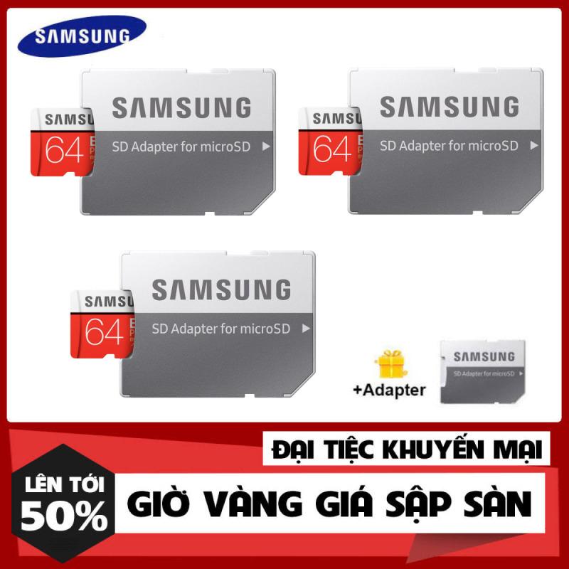 [Hàng Mới Về] Combo 3 Thẻ nhớ MicroSDXC Samsung Evo Plus 64GB U3 4K R1 - Hãng Phân Phối Chính Thức00MB/s W60MB/s - Box Anh New Kèm Adapter New 2021