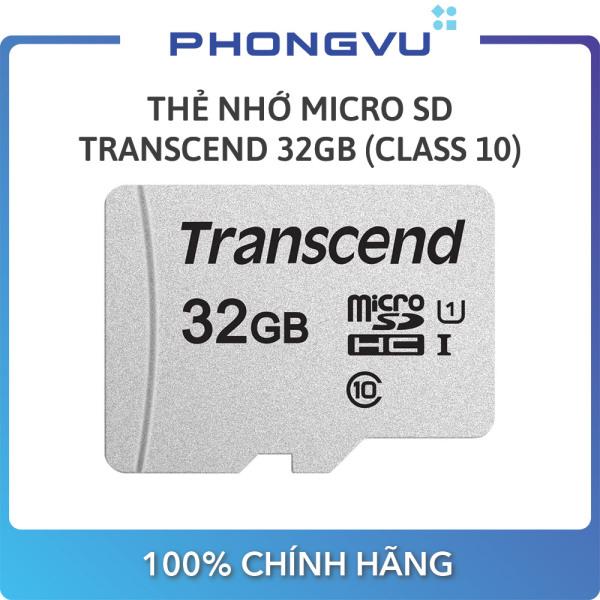 Thẻ nhớ Micro SD Transcend 32GB (Class 10) - Bảo hành 12 tháng