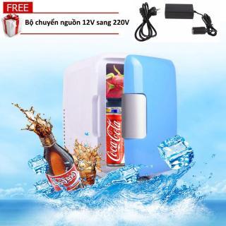 (Kèm bộ chuyển nguồn 12V sang 220V) Tủ lạnh mini hộ gia đình và xe hơi VegaVN - 4Lít-Màu ngẫu nhiên thumbnail