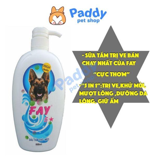 Sữa Tắm Fay 5 Sao Sạch Ve Rận Bò Chét (800ml)