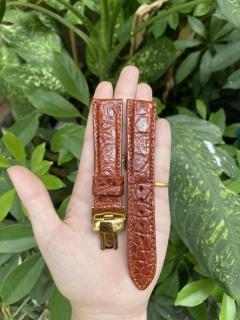 [K31] Dây đồng hồ da cá sấu màu NÂU ĐỎ vân HẠT TRÒN, phát hiện giả ĐỀN 10 LẦN TIỀN,TẶNG KÈM cây tháo lắp dây, dây đồng hồ da cá sấu nam, dây đồng hồ da cá sấu nữ thumbnail