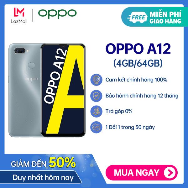 [ĐỘC QUYỀN MÀU MỚI] Điện thoại giá rẻ Oppo A12 (4GB/64GB) - 100% chính hãng