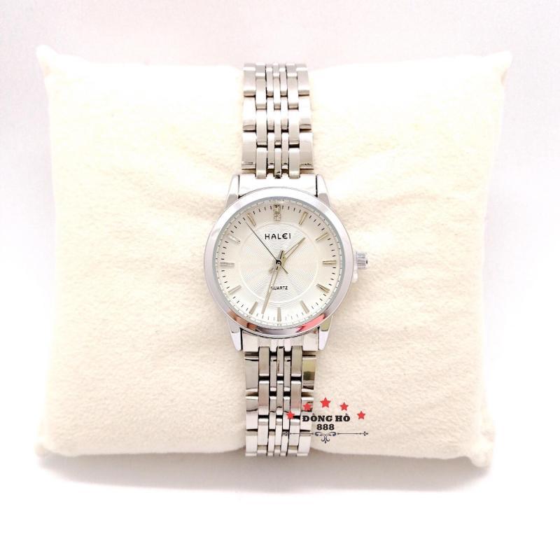 Đồng hồ nữ HALEI dây kim loại thời thượng ( HL552 dây trắng mặt trắng ) - Kính Chống Xước, Chống Nước Tuyệt Đối, Mạ PVD Cao Cấp Chống Gỉ Chống Phai Màu Thời Trang Hottrend 2020