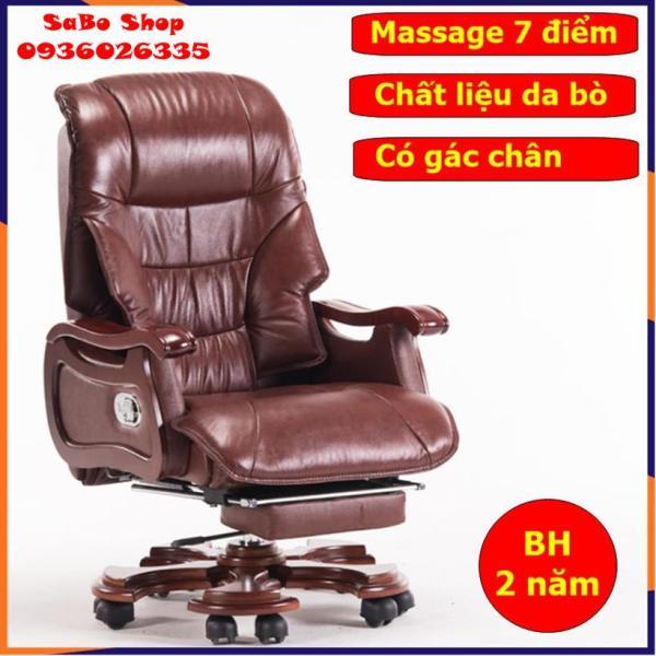 Ghế Giám Đốc, Ghế Chủ Tịch, Ghế da văn phòng có massage 7 điểm, chất liệu da bò, có ngả lưng, có để chân chất liệu cao cấp ngả lưng giá rẻ