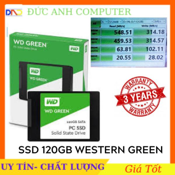 Bảng giá Ổ cứng SSD Western Digital SSD WD Green 120GB 2.5 SATA 3 - WDS120G2G0A- Chính Hãng VĨNH XUÂN/ MINH THÔNG Phân phối Bảo Hàn 3 năm 1 đổi 1 Phong Vũ
