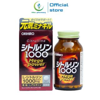 Viên uống bổ sung năng lượng Citrulline 1000mg Orihiro Nhật Bản tăng sức khỏe, tăng sức đề kháng - Chai 240 viên thumbnail