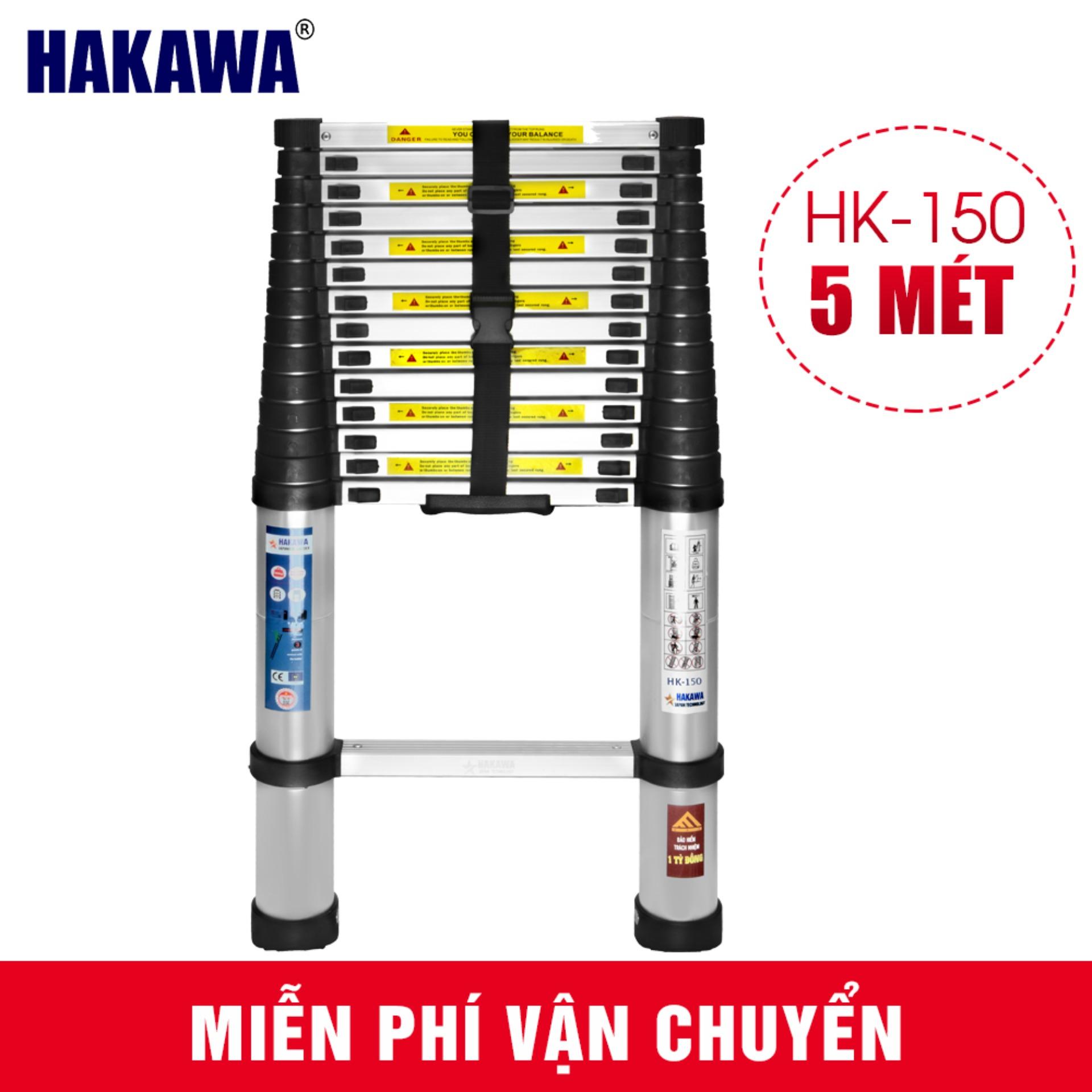 [MIEN PHI GIAO HÀNG TOÀN QUỐC] Thang nhôm rút gọn HAKAWA HK150  - độ bền cao , sản xuất theo công nghệ Nhật Bản