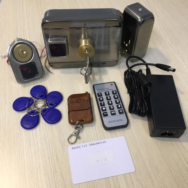 Khóa cổng điện tử Smart Rim RFID SG-201 kèm nguồn adapter 12v cho khóa + 5 thẻ từ
