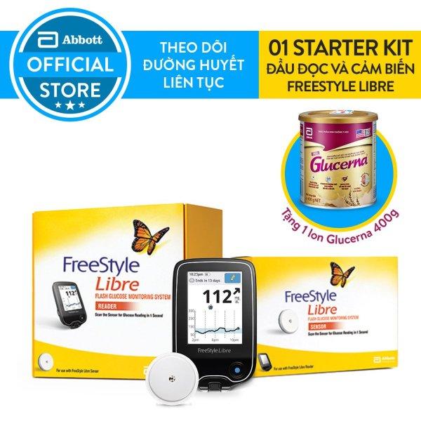 Bộ sản phẩm đầu đọc và cảm biến Freestyle Libre tặng lon sữa Glucerna 400g