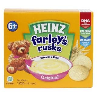 Bánh Ăn Dặm Heinz Farley s RusksCho Bé 6M+ vị tự nhiên (120g) thumbnail