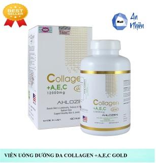 Viên Uống Dưỡng Da Ahlozen Collagen +A,E,C 1200mg - Hộp 180 Viên thumbnail