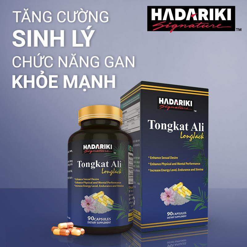 Thực Phẩm Chức Năng Bổ Thận Tráng Dương Hadariki Tongkat Ali (Chai 90 viên)