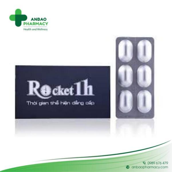 Rocket 1h - Hộp 6 Viên Giúp Hỗ trợ sức khỏe nam giới nhập khẩu