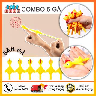 [Có Video] Combo 5 con gà bắn tường vui nhộn, gà bay dính tường silicon, chất liệu an toàn không độc hại thumbnail
