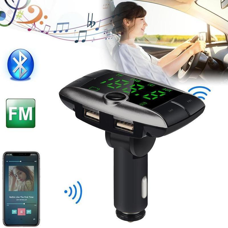 Xe ô tô 87.5-108 MHz Bộ Phát FM Bluetooth Xe Hơi Xe Chơi Sạc USB Dual Người MP3 X5Z6