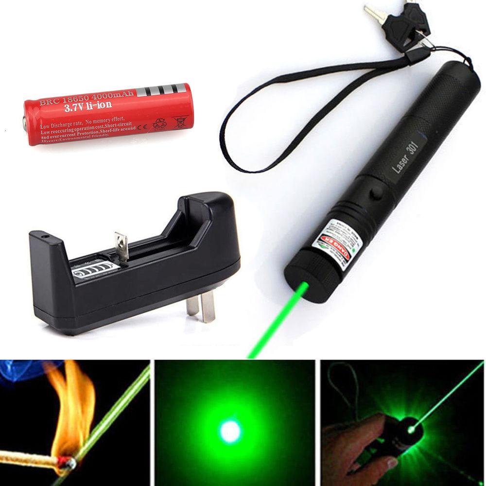 Giá Quá Tốt Để Có Đèn Laser - Lazer - Bút Laze Tia Xanh, Cực Sáng Công Suất Lớn Có Thể đốt Cháy Que Diêm, Có Hiệu ứng ánh Sáng (Kèm Bộ Sạc Pin + Pin)