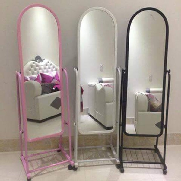 Gương lớn soi toàn thân  có 3 màu đen , hồng và trắng di động