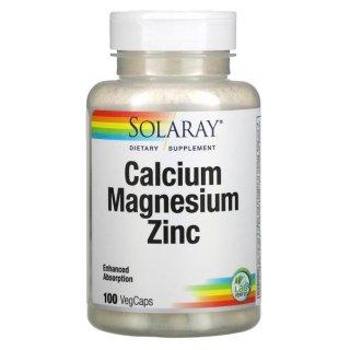 100% Thuần Chay - Viên bổ sung Calcium Magnesium Zinc 100 viên hãng Solaray [Date 10 2024] thumbnail
