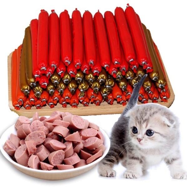 Xúc xích cho chó mèo, xúc xích thưởng chó chó mèo