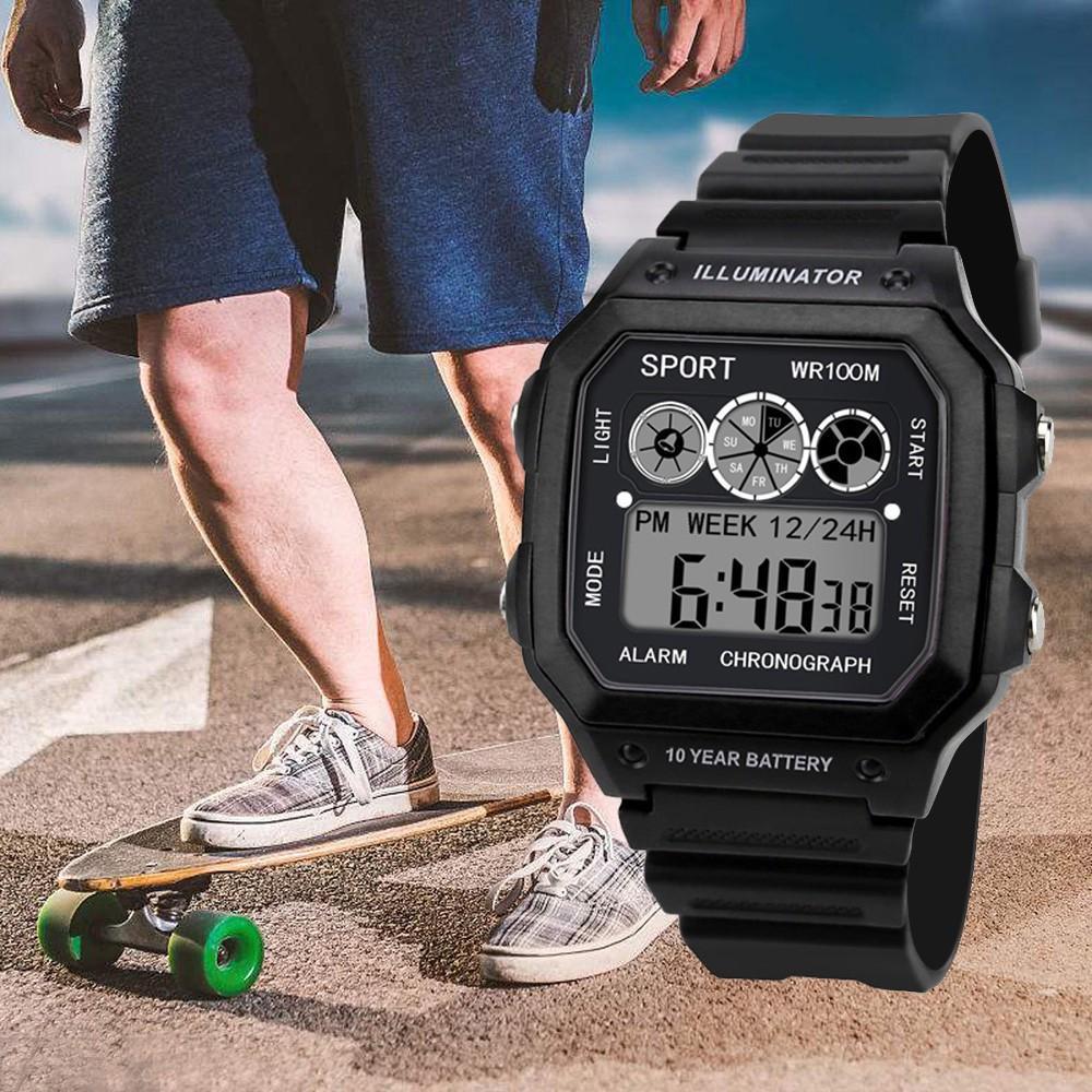 Nơi bán (Bảo hành 1 đổi 1) Đồng hồ điện tử thể thao nam nữ (bấm giờ, báo thức) WR100