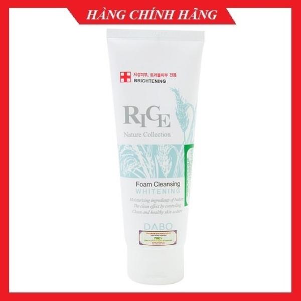 Sữa rửa mặt gạo trăng da, loại bỏ dầu nhờn thâm mụn DABO RICE Foam Cleaner Hàn quốc 150ml