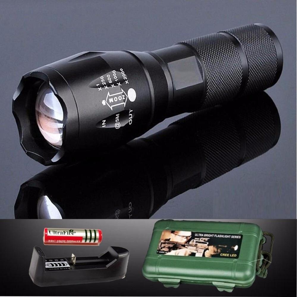 Đèn Pin Police AMY XML-T6 MỚI Siêu Sáng Tặng Bộ Sạc Và Pin Sạc, Hộp Nhựa Chống Sốc - BH 1 ĐỔI 1 Giảm Giá Khủng