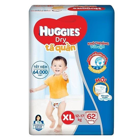 TÃ QUẦN HUGGIES XL62 MIẾNG Giá Siêu Rẻ