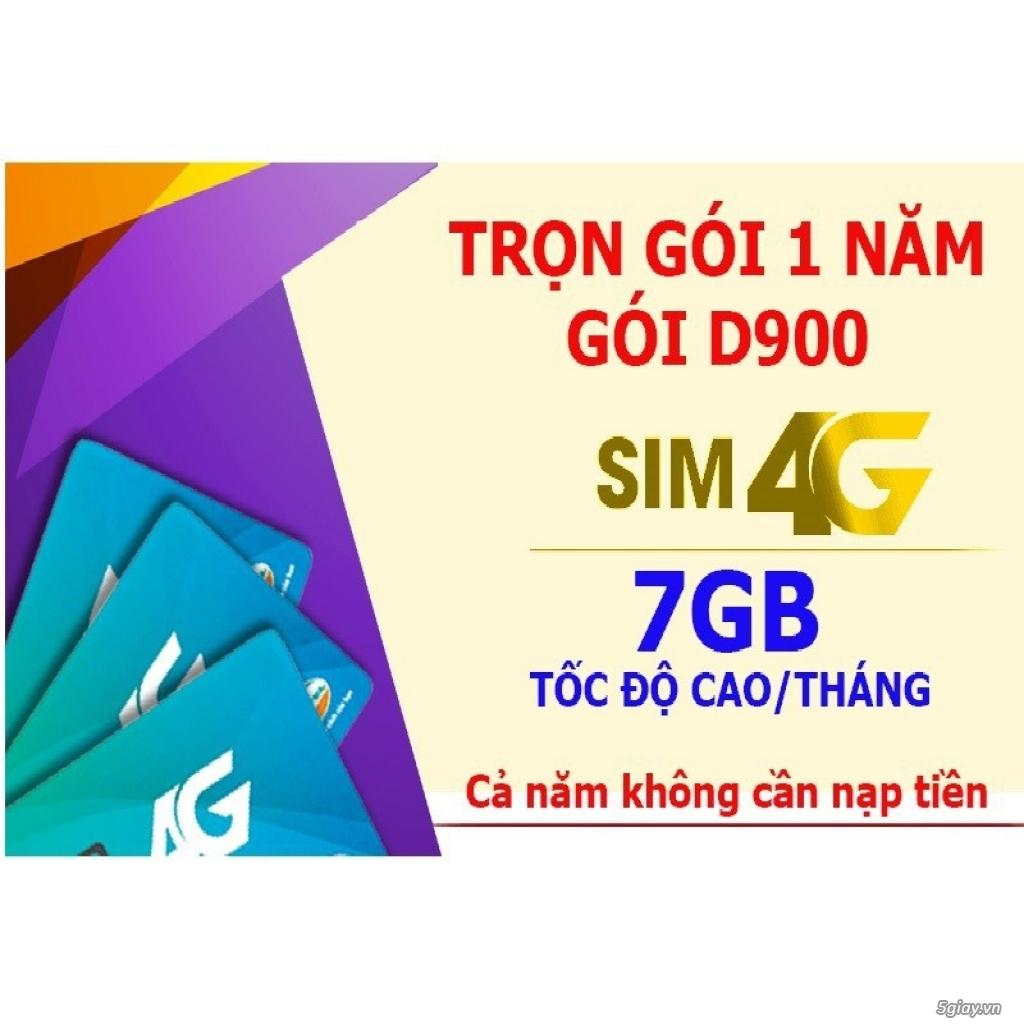 Coupon Khuyến Mại Sim 4g Viettel D900, Trọn Gói 1 Năm, 7Gb Tháng.