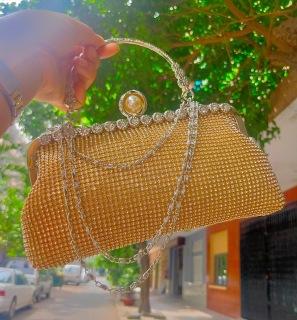 [ XẢ KHO 3 NGÀY] [HÀNG ĐẸP] Túi Dạ Hội Nữ Thời Trang - xinh xắn, đính hạt đá sang trọng [Hoaphuongvy] thumbnail