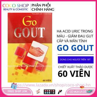 Viên Gout thảo dược giảm đau gút cấp và mãn tính hoàn toàn thảo dược 60 viên thumbnail