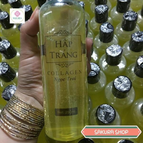 Hấp Trắng Da Ngọc Trai Collagen Chai 250ml