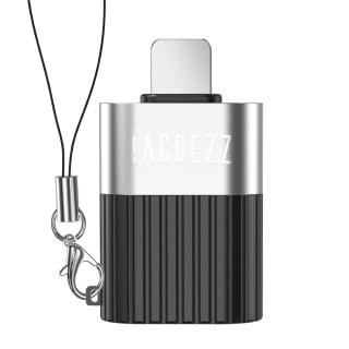 ACCEZZ Bộ chuyển đổi OTG Lightning sang USB dành cho iPhone 7 8 Plus X 11 Pro, bằng hợp kim nhôm, có kích thước 28.6 16.8 7.7mm, giá tốt thumbnail