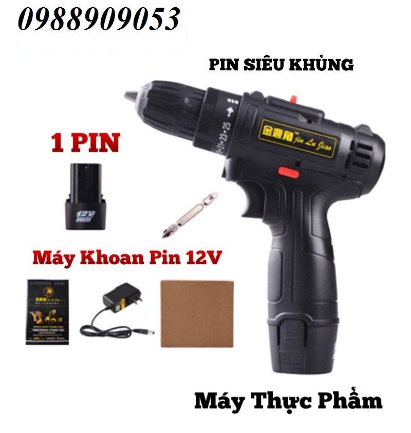 MÁY KHOAN PIN 12V - 2 TỐC ĐỘ - KHOAN PIN 12V