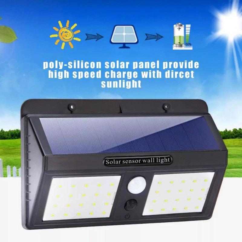 [GIẢM GIÁ SẬP SÀN- CAM KẾT CHẤT LƯỢNG] Đèn led loại đôi và đơn cảm biến hồng ngoại năng lượng mặt trời (40 mắt led ) Cảm Biến 3 Chế Độ. Đèn led cảm biến năng lượng mặt trời có thể thích ứng với hầu hết điều kiện thời t