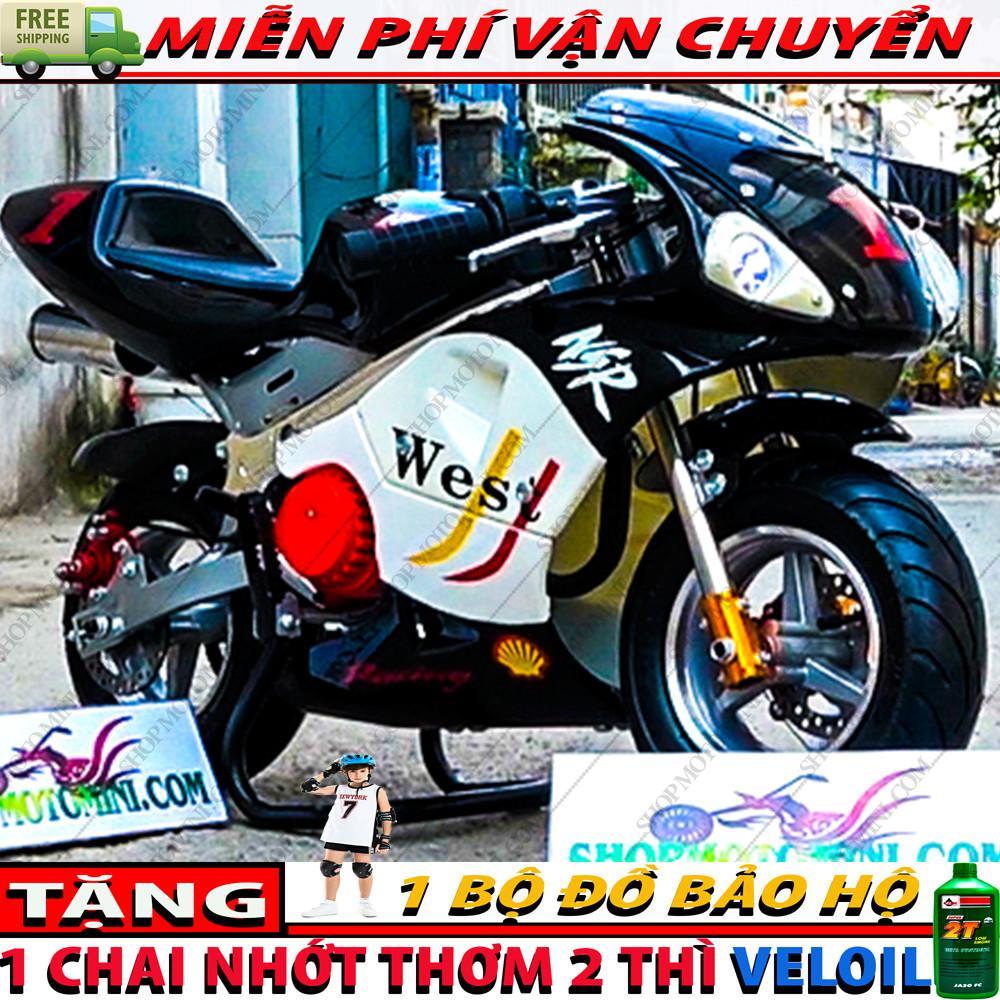 Mua Xe mô tô mini Tam Mao 50cc ( Bản độ có 2 đèn LED + 2 ông xả nổ cực phê ) | Cao cao mini 49cc gắn máy cắt cỏ chạy bằng xăng pha nhớt 2 thì như xì po