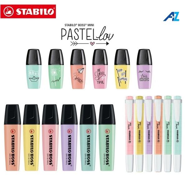 Mua Bộ 6 bút đánh dấu highlight Stabilo pastel