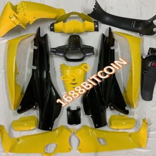 (SIÊU HOT ) Dàn áo xe Wave Alpha MÀU VÀNG ĐEN -wave ZX -wave nhỏ 110 -WAVE 2 BÓNG đời 2000 đến 2006 -nhựa nguyên sinh cao cấp thumbnail